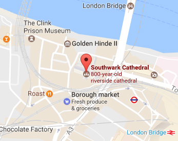 Map of Southwark Cathedral